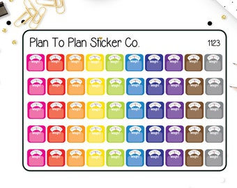 1123~~Weight Tracker Planner Stickers.