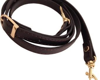 "5/8"" Wide Dark Espresso Brown Replacement Adjustable Cross Body Purse Strap Shoulder Handbag Bag Wallet Clutch Messenger"