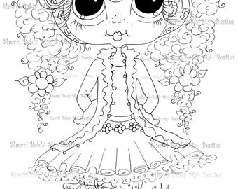 INSTANT DOWNLOAD Digital Digi Stamps Big Eye Big Head Dolls Digi  My - Besties  Tippy Long Locks img 869 By Sherri Baldy