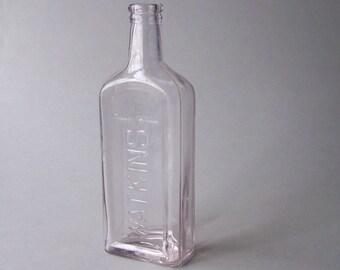 Vintage WATKINS Bottle / Vintage Glass Bottle / Single Stem Vase