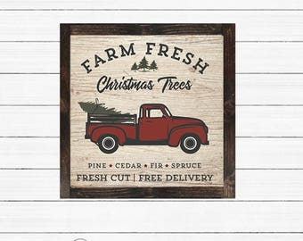 DIY Christmas Tree Farm Sign - PRINTABLE - INSTANT Download