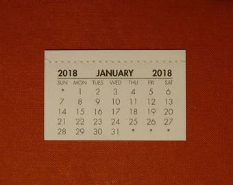 2018 mini Calendar tab (use to make your own calendar)- FREE postage UK