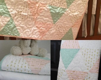 Pretty with Pink baby quilt