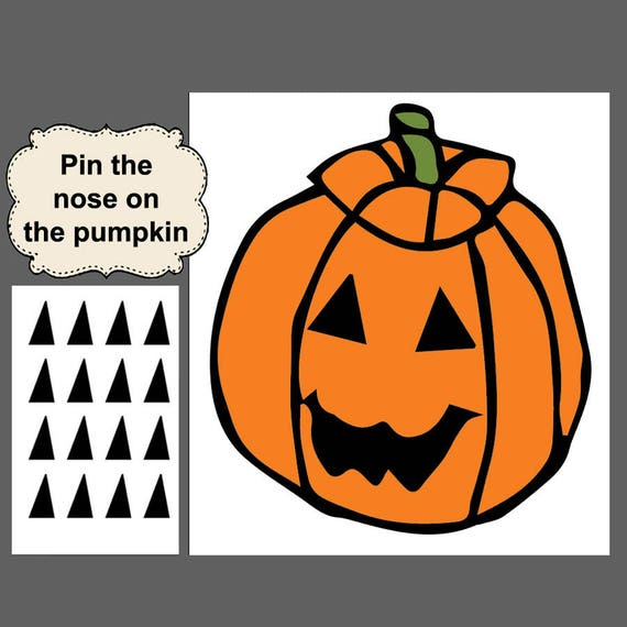 Halloween Game Digital Download Halloween Printable Pin