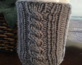 Cabled Mug Cuff