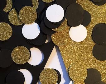 Black & gold confetti