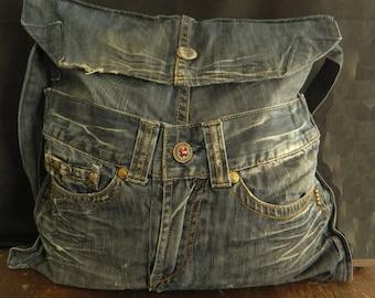 Cut jeans bag