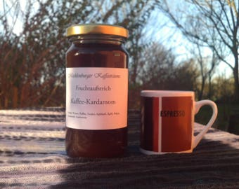 Coffee cardamom jam, spread, homemade, fruit spread, jam, homemade jam, premade
