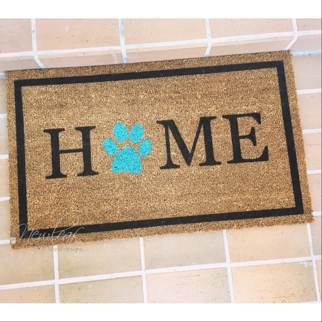 Home Doormat Paw Print Doormat Dog Lover Gift
