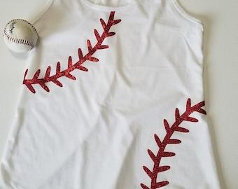 Baseball Mom Tank Top - Baseball Mom glitter stripes tank top - Women's baseball mom tank top - Baseball mom shirt - Sports mom tank top