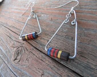 Geek Chic Circuit Board Resister Earrings