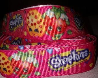 Hot Pink Shopkins Grosgrain Ribbon