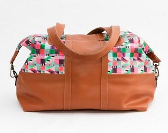 Maletita de fin de semana - bolso de mano - maleta pequeña - maletín - bolsa para gimnasio - vegana