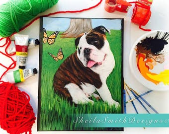 CUSTOM PET PORTRAIT - hand painted on canvas, choose your own size!