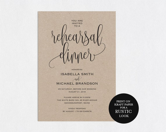 Divine image pertaining to free printable rehearsal dinner invitations