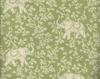 Animal Magic with Elephant Walk (Green), Printed Decorative Fabric