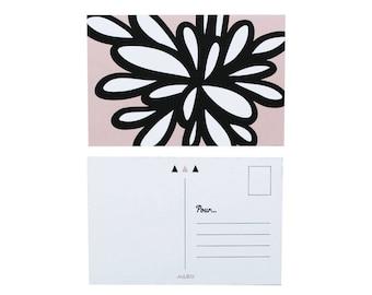 "Pink flower Postcard - ""Organik 1"""