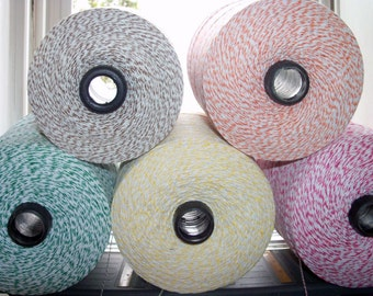 Bakers Twine 300 feet of ONE of the BABY Colors Bakers Twine on Chipboard - Paris Pink, Banana Yellow, Kraft Brown, Green, Turquoise Blue