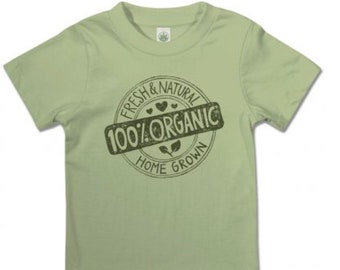 Organic Toddler T-shirt / Organic Kids T-shirt / Eco-friendly T-shirt/ Organic Cotton Kids T-shirt / Hippie Kids / Homegrown Organic T-shirt