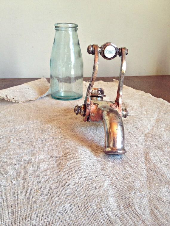 Grifo de ba o antiguos llave francesa vintage ba o grifo for Decoracion hogar rustico