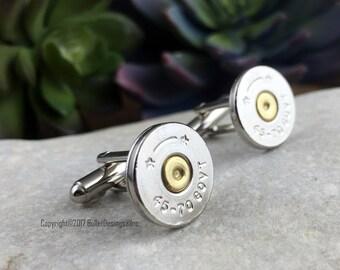 Bullet Cufflinks, 45-70 Govt Nickel Bullet Cuff Links, Wedding Cufflinks, Groomsmen Gift,  Groom Gift, Wedding Cuff Links, Bullet Cuff Links