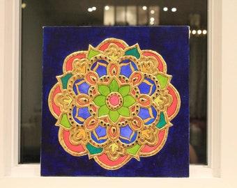 Mandala tanjore painting
