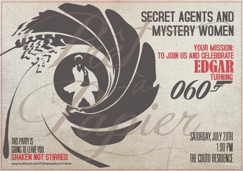 James Bond Party Invitation