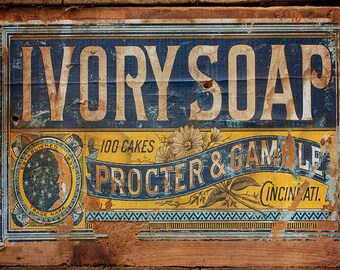 Ivory Soap Advertising Crate Fine Art Photograph Home Decor Wall Art