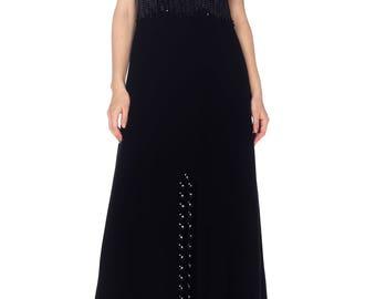 1960s Loris Azzaro Dress With Metal Chain Fringe Size: S