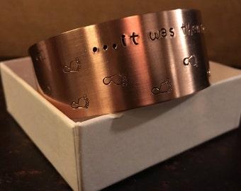 Footprints Bracelet in copper