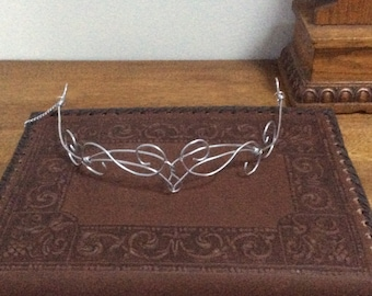 Silver Elven Circlet, Renaissance Circlet, Costume accessory, headpiece, princess, fairy, fae crown, elfin, elfen
