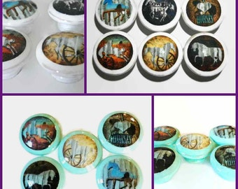 Horse Girl 'I-Love-Horses' Knobs for Your Dresser Drawers & Cabinet Doors. Great Cowgirl Decor. Choose Your Knob Color/Image. Bulk Discounts