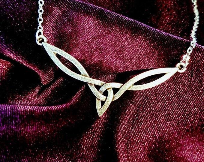 Celtic Knot  Elf Necklace - goth gothic fantasy elf symbol