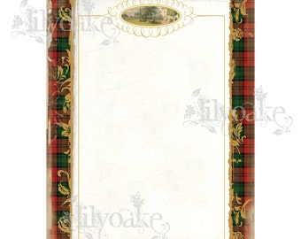 Ancient Stewart Atholl Tartan Panel Card