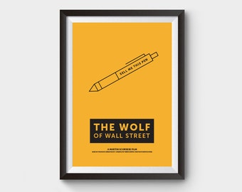 The Wolf Of Wall Street - A3 movie poster, wall street, film poster, minimal poster, dicaprio, wolf, wall street, minimalist movie poster