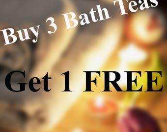 Buy 3 Get 1 Free Herbal Bath Tea Tub Tea Soak - Natural Detox Organic Herbs Flowers-  Discount - Luxury Spa Gift -