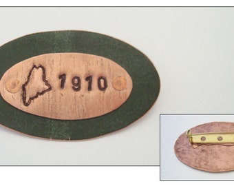 Maine State House Copper Roof brooch - Limited Edition AR