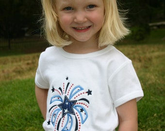 Custom Boutique 4th of July Sweet Firework Appliqued Tshirt or Tank