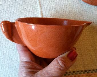 Branchell Melmac Colorflyte Creamer - Rust Orange Color - MINT