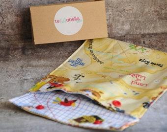 Washable reusable snack bag, reusable snack bag, bag reusable Sandwich, snack bag, lunch bag, waterproof, washable, pirates