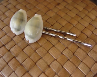 Cowrie Shell Bobby Pins, Set of 2