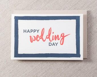 Happy Wedding Day Letterpress Greeting Card