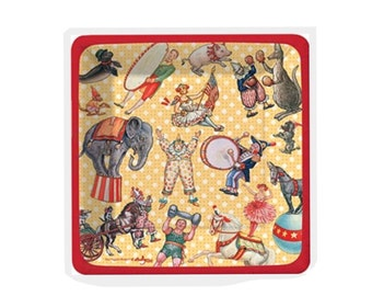 Circus Paper Plates Pkg 8 Carnival Small Cake Made in USA Midway Tent Elephant Birthday Party Plates
