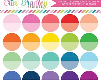 80% OFF SALE Ombre Circles Clipart, Planner Clip Art Graphics, Personal & Commercial Use Clipart, Rainbow Circles Clip Art