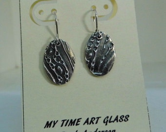 Fine Silver Pattern Earrings