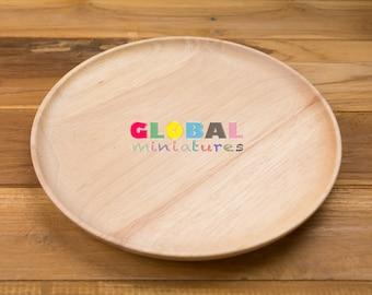 "8"" Rubber Wood Round Dish"