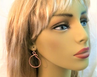 Copper Hoop Earrings(Free shipping)