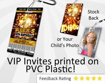 Dance Invitation PLASTIC Dance, Dance Invitation, Birthday Invitation, Birthday Invite, Dance Birthday Invitation SKU-INV081