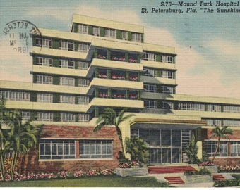 "Florida, Vintage Postcard, ""Mound Park Hospital, St.Petersburg, Fla.,""  1958, #1270."