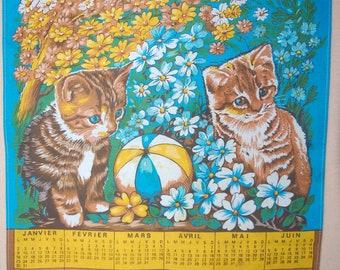 Vintage 1978 calendar tea TOWEL